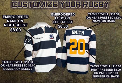 Rugby Gear - Custom Rugby