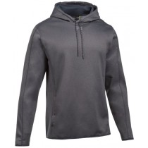 UA Double Threat Fleece Hoodie - Carbon Heather
