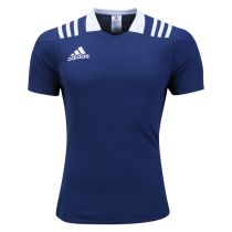 Adidas 3 Stripes Fitted Men's Rugby Jersey - Navy