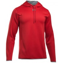 UA Double Threat Fleece Hoodie - Red