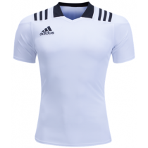Adidas 3 Stripes Fitted Men's Rugby Jersey - White
