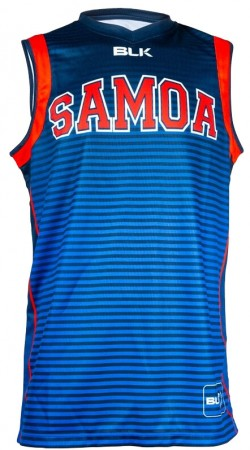 BLK Samoa Rugby World Training Singlet