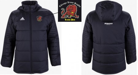 Adidas Lions Den Full Zip Sideline Winter Jacket
