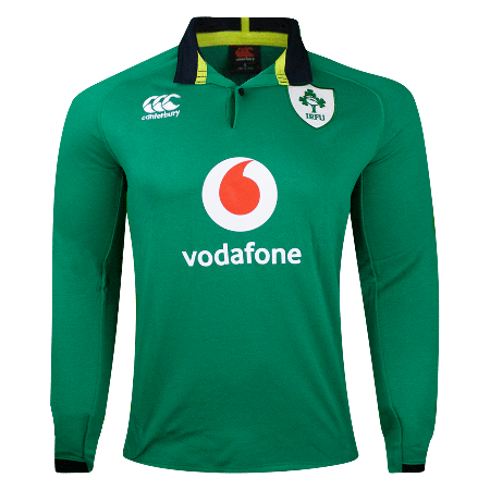 Canterbury Ireland Rugby Home L/S Classic Jersey