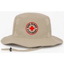 Give Blood Play Rugby Boonie Hat - Khaki