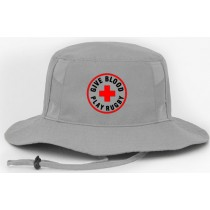 Give Blood Play Rugby Boonie Hat - Silver