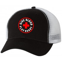 Give Blood Play Rugby Washed Trucker Cap