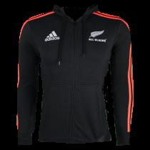 Adidas All Blacks Rugby 3 Stripe Full Zip 2021 Hoodie