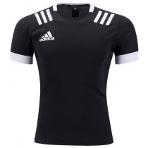 Adidas 3 Stripes Rugby Jersey - Black