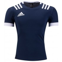 Adidas 3 Stripes Rugby Jersey - Navy