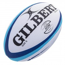 Gilbert Blue Atom Match Rugby Ball