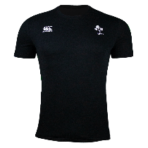 Canterbury Ireland Rugby Black Cotton Supporters T-Shirt