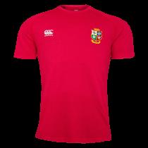 British and Irish Lions Rugby Red Cotton T-Shirt