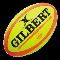 Gilbert Fluoro Omega Match Rugby Ball