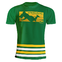 South Africa Springboks Rugby Striped T-Shirt