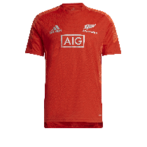 Adidas All Blacks Rugby 2021 Red Performance T-Shirt