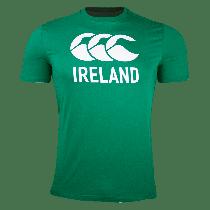 Canterbury Ireland Rugby Green Logo T-Shirt