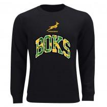 South Africa Springboks Rugby Black Sweatshirt