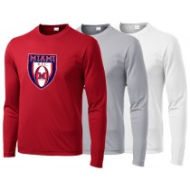 Miami Rugby - Crest Long Sleeve Performance Tee