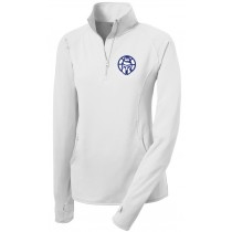 CBA - Ladies 1/2 Zip Performance Pullover - Trojans