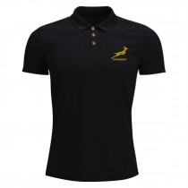 South Africa Springboks Rugby Black Embroidered Polo
