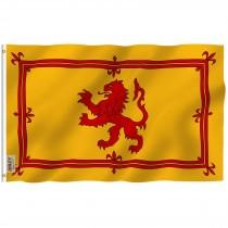 Scotland Rampart Lion Rugby Fan Flag