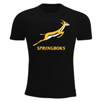 South Africa Springboks Rugby T-Shirt Black
