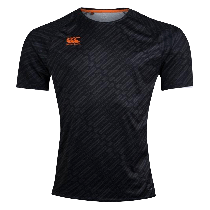 Canterbury Black Vapodri Graphic Rugby T-Shirt