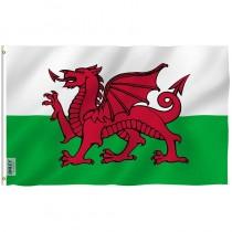 Wales Rugby Fan Flag