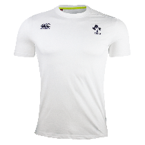 Canterbury Ireland Rugby White Cotton Supporters T-Shirt